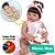 Bebê Reborn Luiza 55cm Corpinho Inteiro em Silicone - Imagem 1