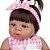 Bebê Reborn Luiza 55cm Corpinho Inteiro em Silicone - Imagem 7