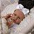 Bebê Reborn Jéssica 55cm Made With Love com Cabelo Cacheado  - Imagem 5