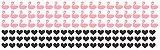 Adesivo de Parede Flamingos e Corações 117unid - Imagem 3