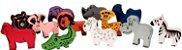 Caminhão-Zootrans-com animais- madeira-Multicolorido-Carimbras - Imagem 2