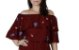 Blusa ciganinha - Bordô - Imagem 2