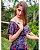 Vestido Longo Ciganinha Azul Moda Evangélica - Imagem 2