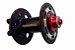 Cubo Dianteiro QUANTA Preto/Vermelho 9mm  32 Furos - MTB - Imagem 1