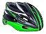 Capacete HIGH ONE Bike MTB Volcano com Luz Preto/Verde - Imagem 1