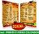 CARDÁPIO PLASTIFICADO - Frente e Verso Coloridos - 4x4 - Tamanho A4 - Papel Couche170g - Imagem 1