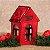 Casinha Vermelha de Porcelana para Vela Led - 9x14 cm - Imagem 3