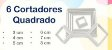 KIT CORTADORES QUADRADO PLASTICO MASSARI - Imagem 2