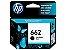 CARTUCHO HP 662 CZ103AB S/2516 PRETO ORIGINAL - Imagem 1