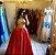 Vestido dois em um vermelho e dourado para festa - Imagem 1