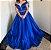 Vestido de festa longo em cetim azul royal - Imagem 1