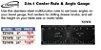 iGaging - Régua Centralizadora de ângulo - 34-C08 2 in 1, Center Rule and Angle Gauge - Imagem 2