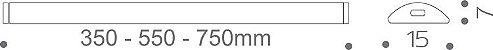 Artetílica Nuze - Luminária Thin Magnética Gaveta / Balcão Super LED 350mm 5.000k LEITOSO - KA505.30.350L - Imagem 5