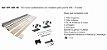 Perfil - Kit p/ Porta de Correr - KM 100 - 4R - Acabamento de madeira p/ porta 4 rodas, Concavo, Perfil 35x35 - Imagem 1