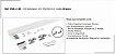 Perfil - Kit p/ Porta de Correr - KSB-2-4R - Sobrepor 2m 4 rodas Branco,  Perfil 35x35 - Imagem 1