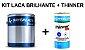 Sayerlack - KIT Laca Nitro Branca Brilhante (3,6L) + Thinner - Imagem 1