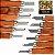 GOLDLINE - Estojo para Entalhes com 12 Formões e Pedra de Afiação - GLD0149 - Imagem 6