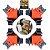 GOLDLINE - Gabarito 90º - Clipe Angular - Kit com 4 Peças - Imagem 1