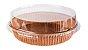 Forma Torta Pie Kraft Ecopack - Redonda M COM Tampa - 5 Unidades - Imagem 1