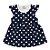 Vestido Bebê Bola Azul Marinho - Imagem 1