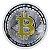 Moeda decorativa Bitcoin - Prata com Dourado - Imagem 1