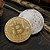 Moeda Decorativa Bitcoin - Dourada - Imagem 2