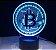 Luminária Bitcoin - 7 Cores (Controle Remoto) - Imagem 2