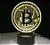Luminária Bitcoin - 7 Cores (Controle Remoto) - Imagem 1