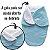 Cueiro Forrado Enroladinho Saco de Dormir Para Bebê Sherpa Plush - Imagem 9