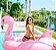 Boia de Flamingo Gigante Rosa 190 cm - Imagem 5