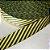 Alça de Poliéster 3cm Diagonais Cinza e Amarelo - Imagem 1