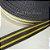 Alça de Poliéster 3cm Listras Cinza com Amarelo - Imagem 1