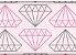 Tecido Diamantes Rosa - Cor 1813 - Imagem 1