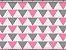 Tecido Triângulos Rosa - Cor 1815 - Imagem 1