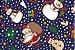 Tecido Papai Noel Azul - Cor 2045 - Imagem 1