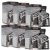 6x Caixas Gel Energel Black 10 Sachês - Bodyaction - Carbo - Imagem 1