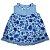 Vestido floral marinho e xadrez - Imagem 2