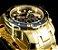Relógio Invicta Pro Diver 0073 / 21923 Banhado Ouro 18k Cronografo 48mm - Imagem 4