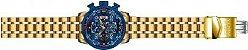 Relógio Invicta Aviator 19173 Cronografo 48mm Banhado Ouro 18k VD57 - Imagem 4