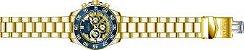 Relógio Invicta Pro Diver 24727 Banhado Ouro 18k Cronografo 48mm W/R 100m - Imagem 4