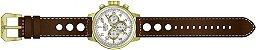 Relógio Invicta S1 Rally 16011 Cronografo 48mm Banhado Ouro 18k Pulseira Couro - Imagem 3