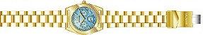 Relógio Invicta Angel Collection 23753 Feminino 38mm Banhado Ouro 18k Cronografo - Imagem 4