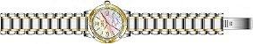 Relógio Invicta Angel 16707 Feminino 36mm Prata com Dourado Aço Inox B. Ouro 18k - Imagem 3
