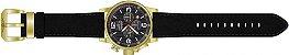 Relógio Invicta I Force 20135 Cronografo Pulseira de Couro 46mm B. Ouro 18k - Imagem 3