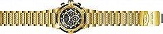 Relógio Invicta Bolt 26813 Cronografo 51.5mm Banhado Ouro 18k - Imagem 4