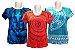 Kit 3 Camisetas Indianas Femininas Várias Estampas - Imagem 1