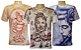 Kit 3 Camisetas Indianas Unissex Deuses Sortidas - Imagem 1