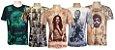Kit 5 Camisetas Indianas Unissex Personalidades Sortidas - Imagem 1
