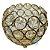 Castiçal Dourado em Metal com Pedra Cristal - Imagem 1