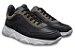 Tênis Sneakers Masculino Couro Preto Barcelona Design | Robust Bull - Imagem 4